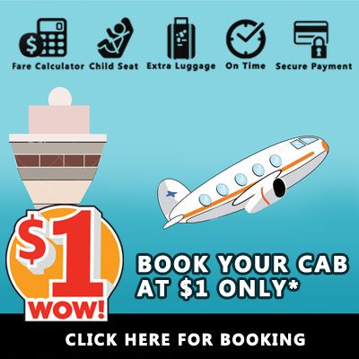 Logan airport taxi cab one dollar booking offer